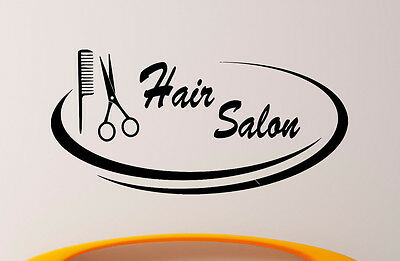 Hair Salon Wall Decal Vinyl Sticker Barber Shop Interior Mural Art Decor (2hsl)