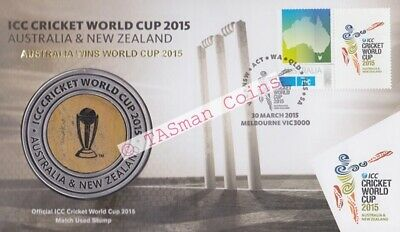 PNC Australia 2015 ICC Cricket World Cup Cricket Stump Medallion Limited Ed 3500
