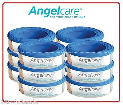 12 x Genuine Angelcare Refill Cassette Replacement bag for Nappy Disposal System