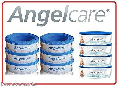 ❤ 10 Angelcare Angel care Refill Cassette Replacement bag Nappy Disposal System