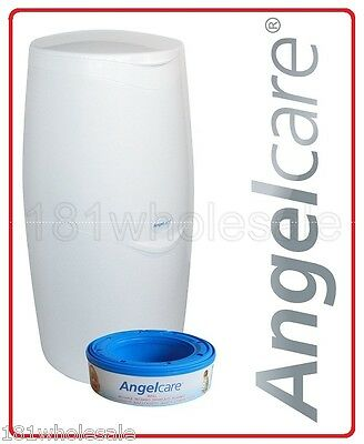 Angelcare Nappy Disposal System Bin Barrier Film Cassette No SmeLL Odour Refill