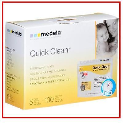 Medela Quick Clean Microwave Steam Bags - Pack of 5 BPA Free