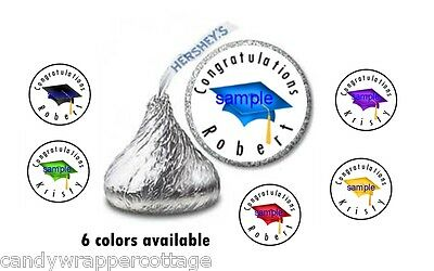 108 Personalized Graduation CAP Hershey Kiss Kisses Labels Personalized Favors