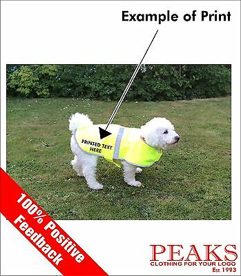 Personalised Reflective Dog, Pet Vest, Coat FREE PRINTED TEXT, 4 Sizes Available