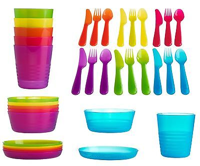 Ikea Kalas Baby Kids Plastic Cutlery, Cups, Plates, Bowls, Mugs Children's Party