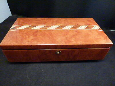 San Francisco Music Box Company Italy Sanyo  Wood Marquetry Music Box w/botton