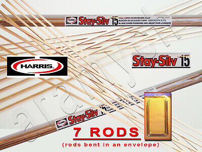 7 RODS Sil-Fos 15 Brazing Rods LucasMilhaupt 15% Soldering Rods Alloy Silver 15%