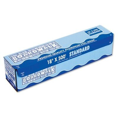 Standard Aluminum Foil Roll, 18'' x 500ft, 14 Micron Thickness, Silver