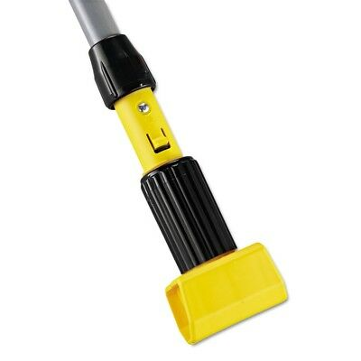 Gripper Aluminum Mop Handle, 1 1/8 dia x 60, Gray/Yellow - RCP H226