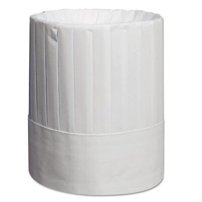 Pleated Chef's Hats, Paper, White, Adjustable, 9'' Tall, 24/Carton - RPP RCH9