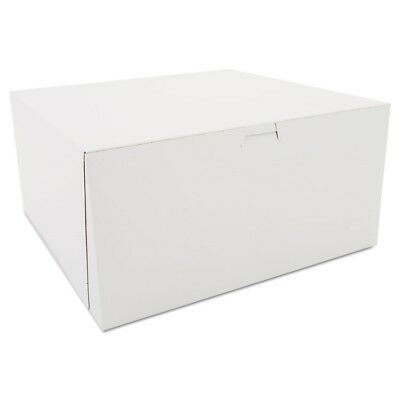 Tuck-Top Bakery Boxes, White, Paperboard, 12 x 12 x 6 - SCH 0989