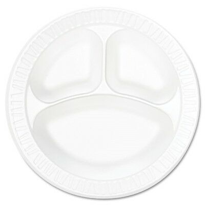 Concorde Foam Plate, Compartmented, 10 1/4'' dia, WE, 125/Pack, 4 Packs/Carton