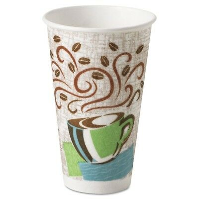 Hot Cups, Paper, 16oz, Coffee Dreams Design, 50/Pack - DIX 5356CD