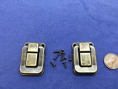 2 Pieces vintage style small box hardware lock latch box latches box catches B13