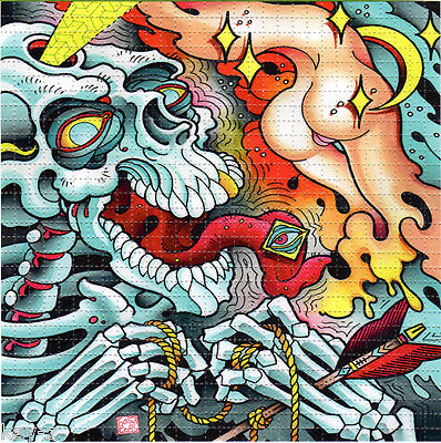 TIP OF MY TONGUE - BLOTTER ART psychedelic perforated LSD acid art hofmann