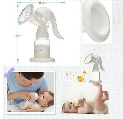 NEW Baby Feeding Manual Natural Breast Pump & Bottle Nipple Care Milk Storage LH