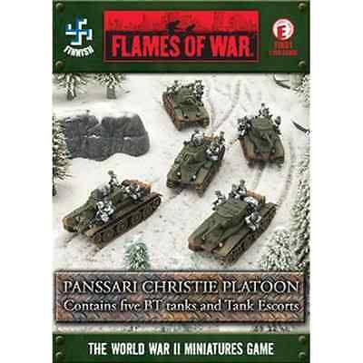 FoW-FIX01 - FLAMES of WAR: 15mm; Panssari Christie Platoon (with Tank Escorts) (