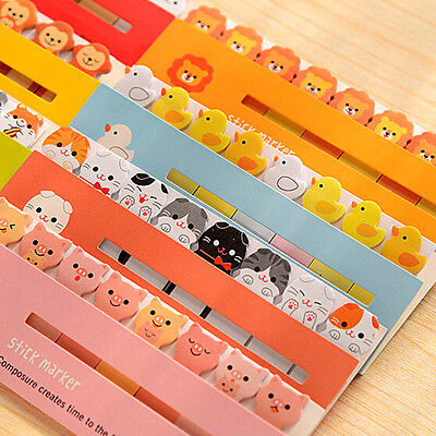 24 Types 120 Page Animal Sticker Post It Marker Bookmark Memo Flags Sticky Notes