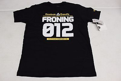 Reebok Crossfit Shirt Youth Rich Froning Size S M L Xl Nwt Brand New Black