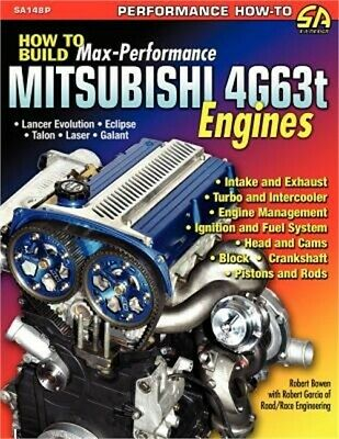 How to Build Max-Performance Mitsubishi 4g63t Engines (Paperback or Softback)