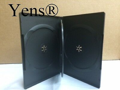 Yens® 10 Premium 4 Disc Black CD DVD Case 14MM Movie Box 10#BDVD4