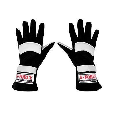 G-FORCE G1 Nomex SFI 3.3/1 Certified Racing Gloves, Black, Size Youth S