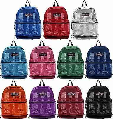 NEW Transport See Through Mesh Backpack/Book Bag/ School/ Hike/ Travel Backpack