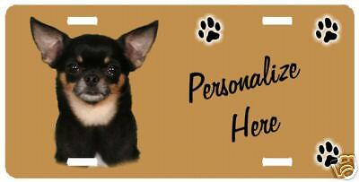Chihuahua  black & tan  # 1  Personalized License Plate
