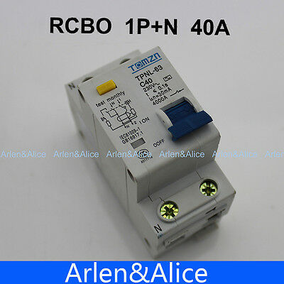 DPNL 1P+N 40A 230V~ 50HZ/60HZ MCB with over current and Leakage protection RCBO