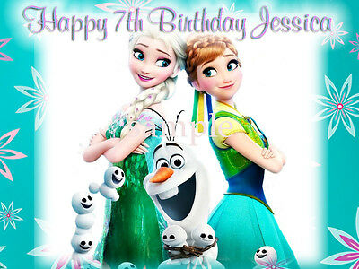 Frozen FEVER Edible ICING Image Decoration CAKE Topper FREE SHIPPING