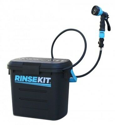 RinseKit 8L Wash Motocross Bike Surf Rinse Portable Shower Pressurised Hose Kit