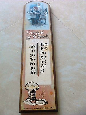Cream of Wheat Thermometer  Wooden hanger advertising vintage collectible