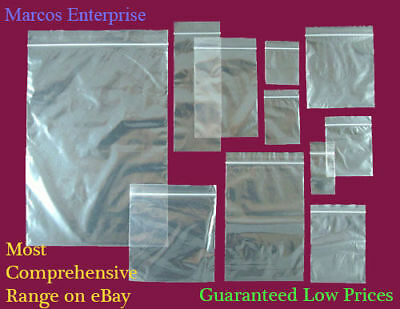 Grip Seal Bags Self Resealable Mini Grip *HUGE RANGE*