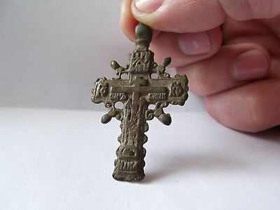 Medieval period  Bronze Cross Pendant