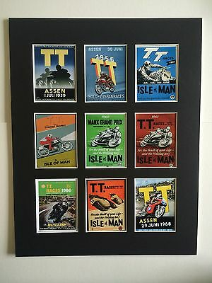 "T T Racing Isle Of Man 14"" By 11"" Mounted Picture Ready To Frame"