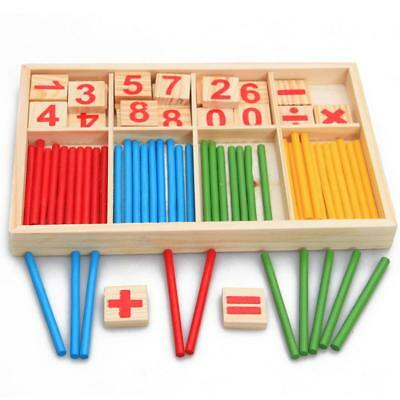 Kids Child Wooden Numbers Mathematics Early Learning Counting Educational Toy LH