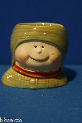 YANKEE CANDLE ~ CHILD IN RED SCARF ~ VOTIVE or TEA LIGHT  HOLDER ~ 2 1/2""