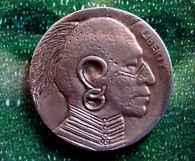 """Hobo Nickel. """"Indian""""  OC Classic Carving"""