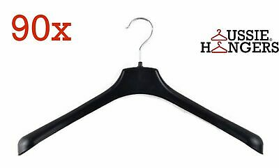 90x JACKET HANGER Heavy Duty 400mm Commercial Pants Clothing Coat BULK R51S