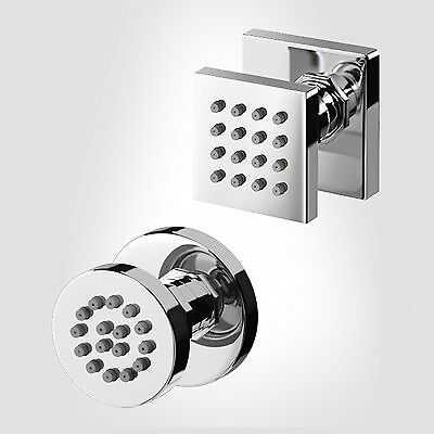 1 / 2 / 4 / 6 Square Or Round Massage Body Jets For Chrome Bathroom Shower Mixer