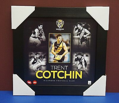 Trent Cotchin Unsigned Richmond Tigers Official AFL Montage 2015 Print Framed
