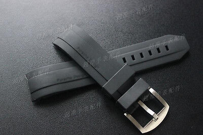 22mm rubber Watch Strap silicone Band for Porsche Design P6612 racing series