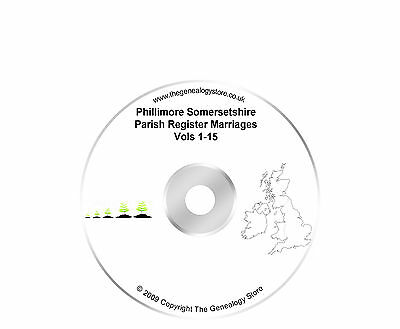 Phillimore Somersetshire Parish Register Marriages Vols 1-15