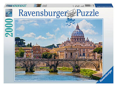 The Bridge Of Angels Rome 2000 Piece Jigsaw Puzzle Ravensburger