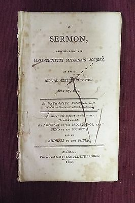 A Sermon by Nathaniel Emmons - 1800 • CAD $157.50