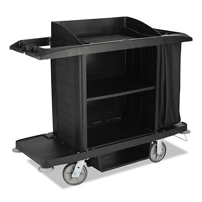 Rubbermaid Commercial Products C-Full Size Cart W/Vinyl Bag| Black (1)