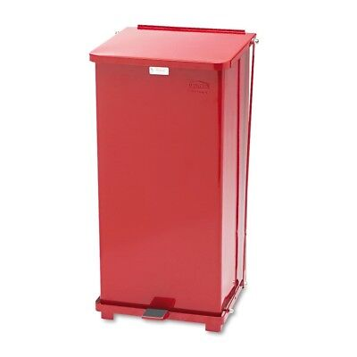 Defenders Biohazard Step Can, Square, Steel, 24gal, Red - RCP ST24EPLRED