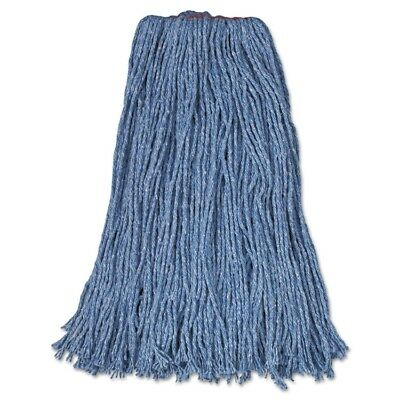 Cotton/Synthetic Cut-End Blend Mop Head, 24oz, 1'' Band, Blue, 12/Carton