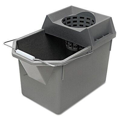 Pail/Strainer Combination, 15qt, Steel Gray - RCP 6194 STL