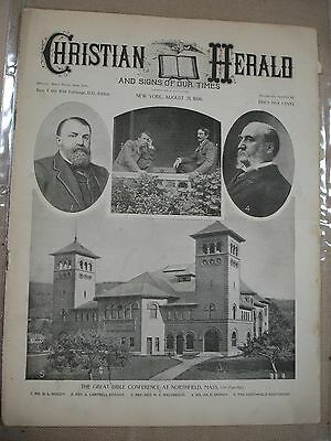 Christian Herald and Signs of our Times - Newspaper - 1898
